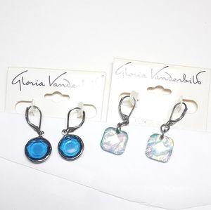 NWT Gloria Vanderbilt 2 Pairs Earrings